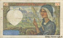50 Francs Jacques CŒUR FRANCE  1940 F.19.02 TTB