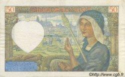 50 Francs Jacques CŒUR FRANCE  1941 F.19.10 TTB