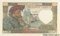50 Francs Jacques CŒUR FRANCE  1941 F.19.17 pr.NEUF