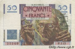 50 Francs LE VERRIER FRANCE  1948 F.20.10 SUP