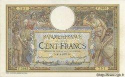 100 Francs LUC OLIVIER MERSON sans LOM FRANCE  1917 F.23.09 TTB