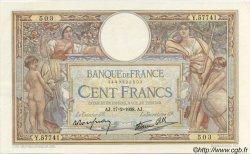 100 Francs LUC OLIVIER MERSON type modifié FRANCE  1938 F.25.11 SUP à SPL