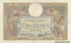 100 Francs LUC OLIVIER MERSON type modifié FRANCE  1938 F.25.26 pr.TTB