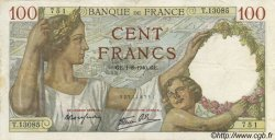100 Francs SULLY FRANCE  1940 F.26.34 TTB+