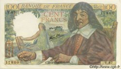 100 Francs DESCARTES FRANCE  1944 F.27.05 pr.NEUF