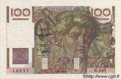 100 Francs JEUNE PAYSAN FRANCE  1953 F.28.37 SPL+