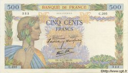 500 Francs LA PAIX FRANCE  1940 F.32.02 SUP+