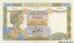 500 Francs LA PAIX FRANCE  1940 F.32.11 pr.SPL