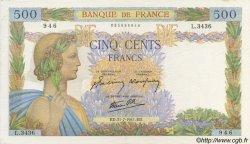 500 Francs LA PAIX FRANCE  1941 F.32.20 SUP+