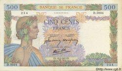 500 Francs LA PAIX FRANCE  1942 F.32.31 SUP+