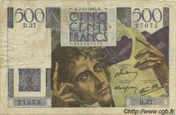 500 Francs CHATEAUBRIAND FRANCE  1945 F.34.03 TB