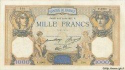 1000 Francs CÉRÈS ET MERCURE type modifié FRANCE  1937 F.38.02 TB