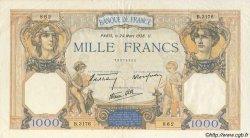 1000 Francs CÉRÈS ET MERCURE type modifié FRANCE  1938 F.38.09 TTB+