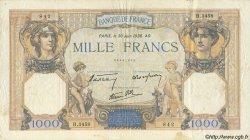 1000 Francs CÉRÈS ET MERCURE type modifié FRANCE  1938 F.38.21 TTB