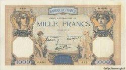 1000 Francs CÉRÈS ET MERCURE type modifié FRANCE  1937 F.38.35 SUP