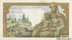 1000 Francs DÉESSE DÉMÉTER FRANCE  1942 F.40.01 TTB à SUP