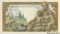 1000 Francs DÉESSE DÉMÉTER FRANCE  1943 F.40.24 SUP+
