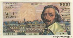 1000 Francs RICHELIEU FRANCE  1953 F.42.02 SUP+