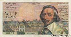 1000 Francs RICHELIEU FRANCE  1955 F.42.15 TTB+