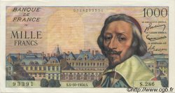 1000 Francs RICHELIEU FRANCE  1956 F.42.22 SPL