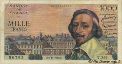 1000 Francs RICHELIEU FRANCE  1956 F.42.23