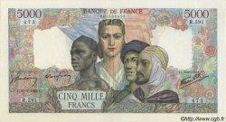 5000 Francs EMPIRE FRANÇAIS FRANCE  1945 F.47.13 SUP