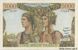 5000 Francs TERRE ET MER FRANCE  1957 F.48.16 pr.TTB