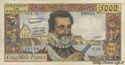 5000 Francs HENRI IV FRANCE  1958 F.49.02 TTB
