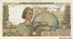 10000 Francs GÉNIE FRANÇAIS FRANCE  1953 F.50.66 TTB