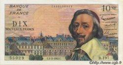 10 Nouveaux Francs RICHELIEU FRANCE  1962 F.57.17 SUP+