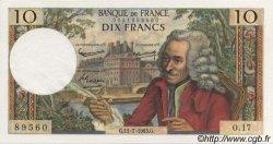10 Francs VOLTAIRE FRANCE  1963 F.62.03 SUP+ à SPL