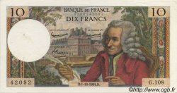 10 Francs VOLTAIRE FRANCE  1964 F.62.11 SUP+