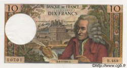 10 Francs VOLTAIRE FRANCE  1969 F.62.37 SUP+