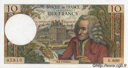 10 Francs VOLTAIRE FRANCE  1970 F.62.45 SUP à SPL