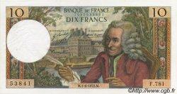 10 Francs VOLTAIRE FRANCE  1972 F.62.56 SUP à SPL