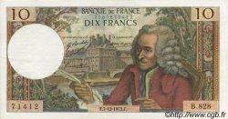 10 Francs VOLTAIRE FRANCE  1972 F.62.59 SPL