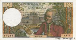 10 Francs VOLTAIRE FRANCE  1973 F.62.61 SUP+