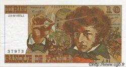 10 Francs BERLIOZ FRANCE  1974 F.63.07a SUP