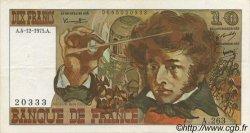 10 Francs BERLIOZ FRANCE  1975 F.63.15 SUP+