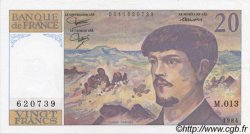 20 Francs DEBUSSY FRANCE  1984 F.66.05 SPL