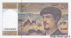 20 Francs DEBUSSY à fil de sécurité FRANCE  1990 F.66Bis.00s5 NEUF
