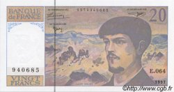 20 Francs DEBUSSY modifié FRANCE  1997 F.66ter.02a NEUF
