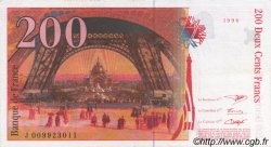 200 Francs EIFFEL sans STRAP FRANCE  1996 F.75bis.02 SUP+