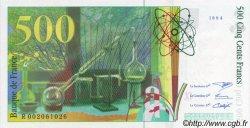 500 Francs PIERRE ET MARIE CURIE modifié FRANCE  1994 F.76.01 NEUF