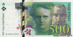 500 Francs PIERRE ET MARIE CURIE modifié FRANCE  1995 F.76.02 SUP+