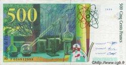 500 Francs PIERRE ET MARIE CURIE modifié FRANCE  1996 F.76.03 SUP+