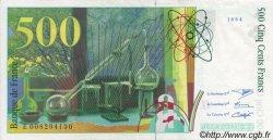 500 Francs PIERRE ET MARIE CURIE symbole en haut FRANCE  1994 F.76Bis.01 SUP+