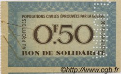 50 Centimes BON DE SOLIDARITÉ FRANCE  1941 KL.01As SUP