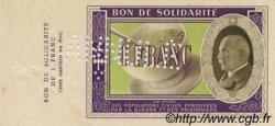 1 Franc FRANCE régionalisme et divers  1941 KL.02As SPL