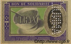 1 Franc FRANCE  1941 KL.02As SPL